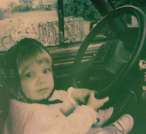 "Me ""driving"" in July 1989."