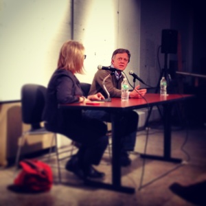 Ted Conover in conversation with Lis Harris at Columbia's Graduate Writing Program's Nonfiction Dialogue on Wednesday, January 29, 2013.